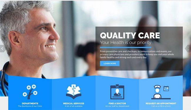 medical wordpress theme 650x374 - طراحی قالب وردپرس پزشکی