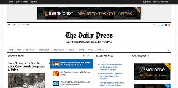 news wordpress theme - طراحی قالب وردپرس خبری