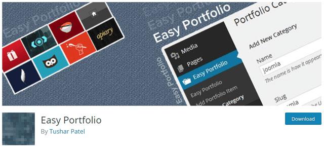 easy portfolio wordpress plugin - 12 افزونه نمونه کار وردپرس و پلاگین گالری عکس حرفه ای - Portfolio