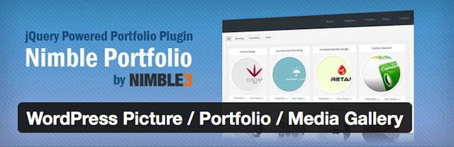 nimble - 12 افزونه نمونه کار وردپرس و پلاگین گالری عکس حرفه ای - Portfolio