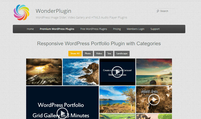wonder gallery wordpress portfolio plugin - 12 افزونه نمونه کار وردپرس و پلاگین گالری عکس حرفه ای - Portfolio